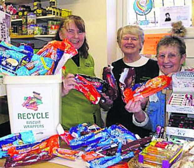 This Is Wiltshire: Veronica Seedhouse, Maggi Francis and Jan Barber from the Rowde Village Shop