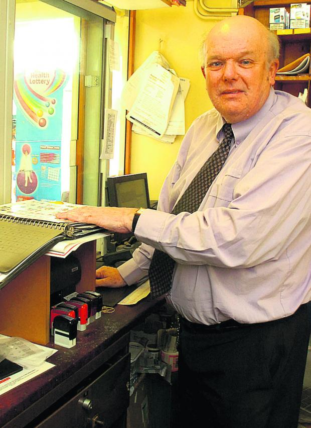 This Is Wiltshire: Peter Smith is retiring next month after running Sutton Benger Post Office for nearly 30 years