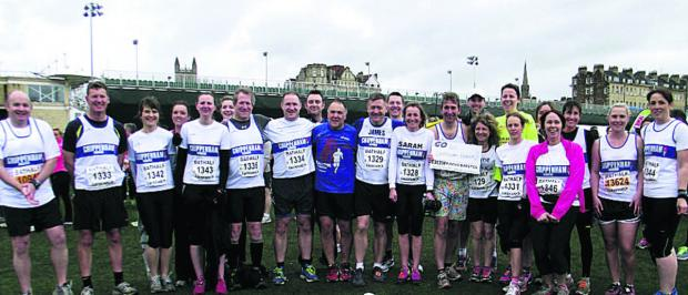 This Is Wiltshire: Nearly 30 Chippenham Harriers members took part in Bath Half Marathon