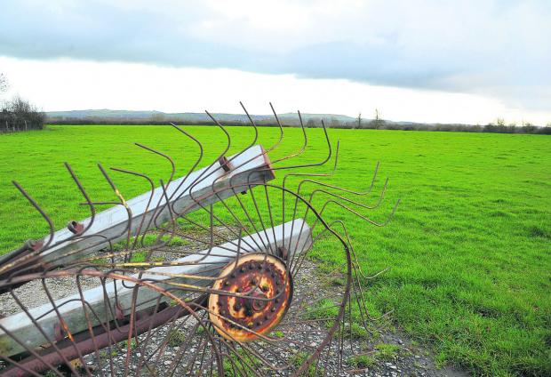 This Is Wiltshire: Ready to be transformed – the fields off the A420 which are planned to become a new district centre