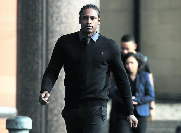 This Is Wiltshire: Nile Ranger arriving at court yesterday