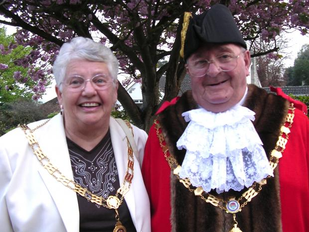 This Is Wiltshire: Percy Miles with wife Sally