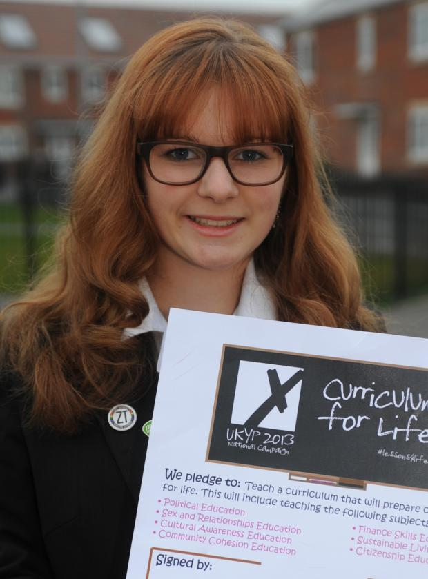 This Is Wiltshire: Teenager Ellie Pullen, a former Member of Youth Parliament for West Wiltshire, is calling for young people to reply to First Bus' fare consultation