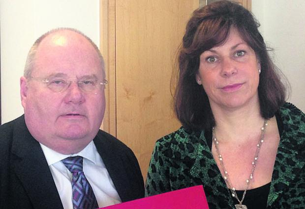 This Is Wiltshire: Eric Pickles, Secretary of State for Communities and Local Government, and Devizes MP Claire Perry today