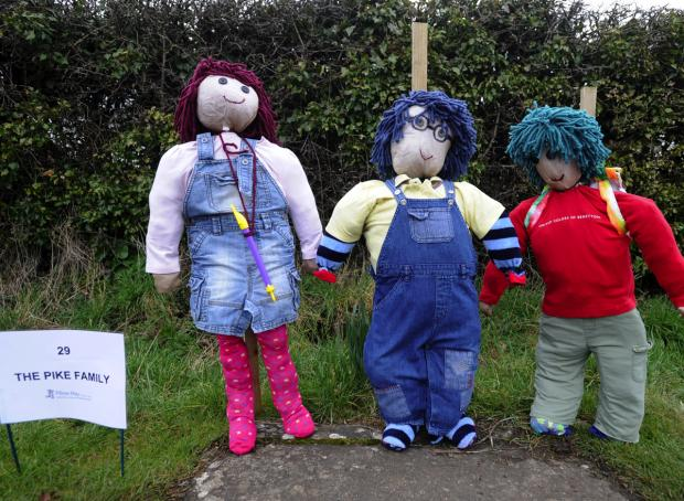 This Is Wiltshire: Tots TV characters at last year's Christian Malford scarecrow trail                    (DV237) By DIANE VOSE