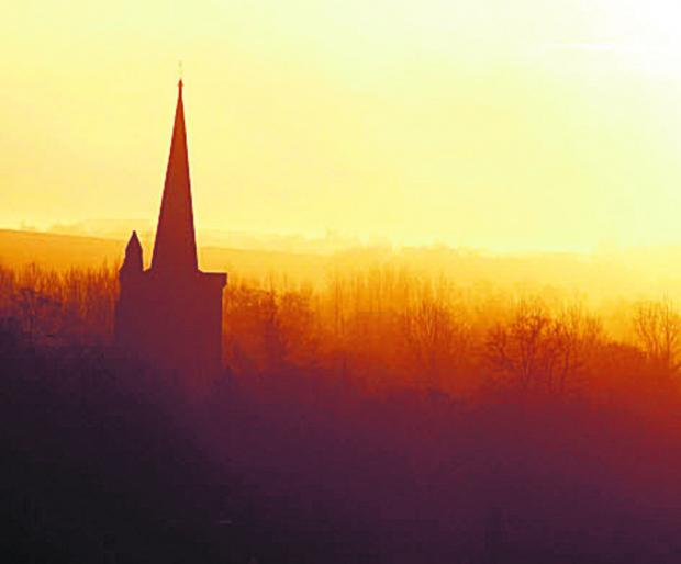 This Is Wiltshire: A view of St Mary's Church, Bishops Cannings, taken by Gazette photographer Vicky Scipio
