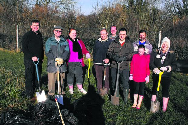This Is Wiltshire: Roundway allotment holders planted a hedge at the site earlier in the year