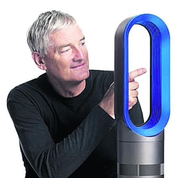 This Is Wiltshire: Sir James Dyson with an Air Multiplier fan