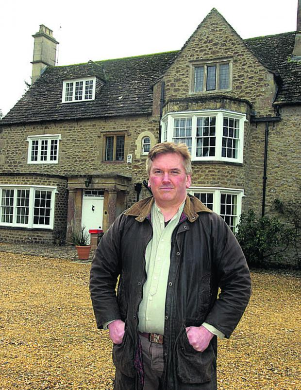 This Is Wiltshire: Richard Broadhead at Westbrook House in Bromham where Cpt Ashley died 		             (PM1093) Picture by Paul Morris