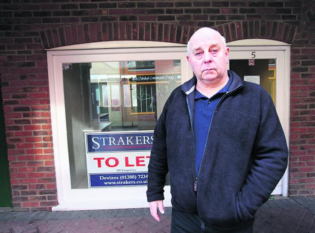 This Is Wiltshire: Keith Nisbeck was the owner of Bernie's Bait Shop on Snuff Street, Devizes                                                              (VS206) By VICKY SCIPIO