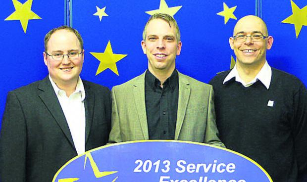 This Is Wiltshire: Peter Hopkins, Keiran Thomas and Tim Benjamin, of Priority IT Solutions