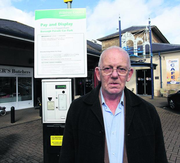 This Is Wiltshire: Kenneth Lambourne paid for his parking fine in pennies                                                     (VS208) By VICKY SCIPIO