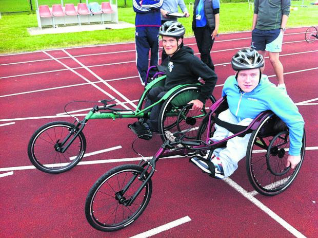 This Is Wiltshire: Athletes Jordan Hunt and Brandon Jones, who
