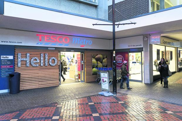 This Is Wiltshire: Tesco Metro Swindon town centre where the incident happened  Picture: Alex Skennerton