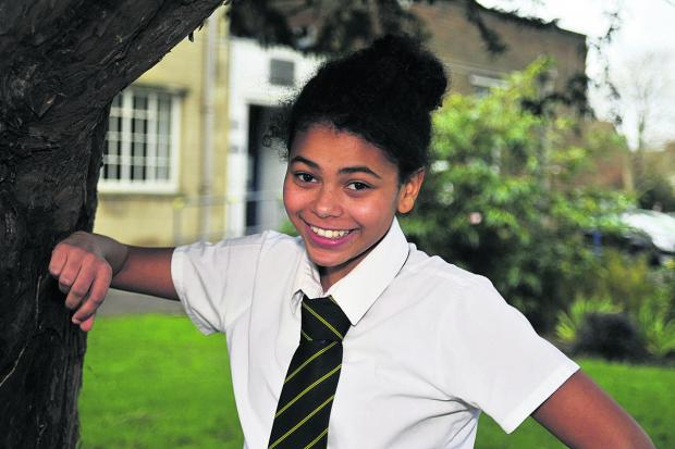 This Is Wiltshire: Schoolgirl Rhianna Ford, who featured in a Little Mix video
