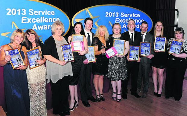 This Is Wiltshire: Finalists in the annual Service Excellence Awards last night