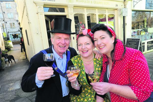 This Is Wiltshire: Bradford on Avon mayor John Potter dons a top hat to open