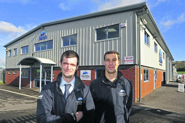 This Is Wiltshire: Service manager Tom Dickson, left, and Matthew Webb, group parts and accessories manager at the new centre