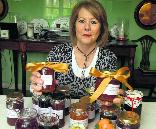 This Is Wiltshire: Chittoe B&B owner Ginny Scrope won a gold award in an international marmalade competition