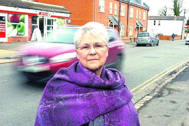 This Is Wiltshire: Coun Judy Rose in Bath Road, where she has campaigned for a crossing