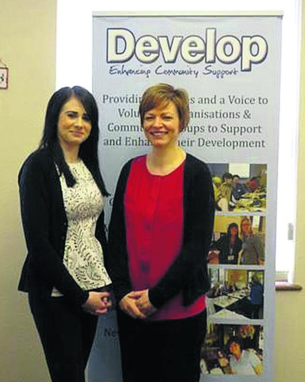 This Is Wiltshire: Apprentice receptionist Melissa Craven, left, with HR manager Rachel Nouch