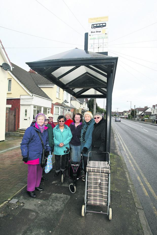 This Is Wiltshire: Residents in Croft Road who want the bus shelter to stay