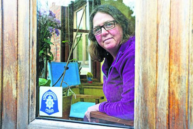 This Is Wiltshire: Anita Basevi, a Neighbourhood Watch street co-ordinator, who wants more volunteers to get involved