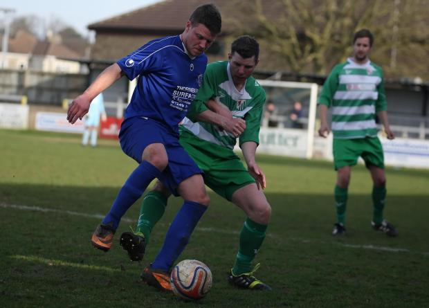 This Is Wiltshire: Chippenham Park's Mark Nold, pictured in action during the goalless draw with Welton Rovers on Saturday (Picture by Robin Foster)