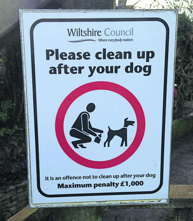 This Is Wiltshire: It is a civil offence not to clear up after dogs