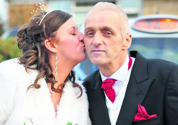 This Is Wiltshire: Gary Savory with his daughter Hayley on her wedding day
