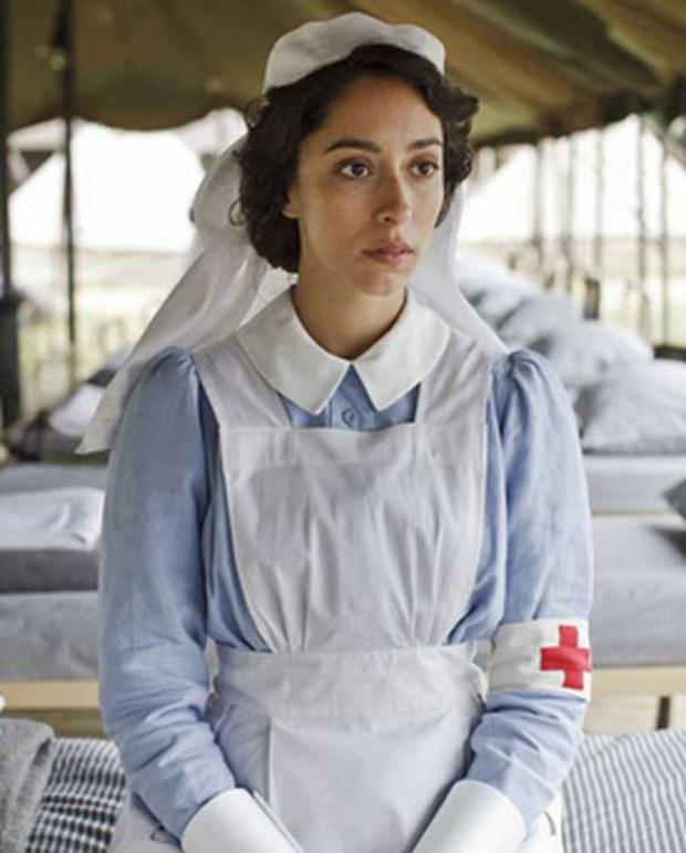 This Is Wiltshire: Oona Chaplin in a scene from BBC TV drama Crimson Field