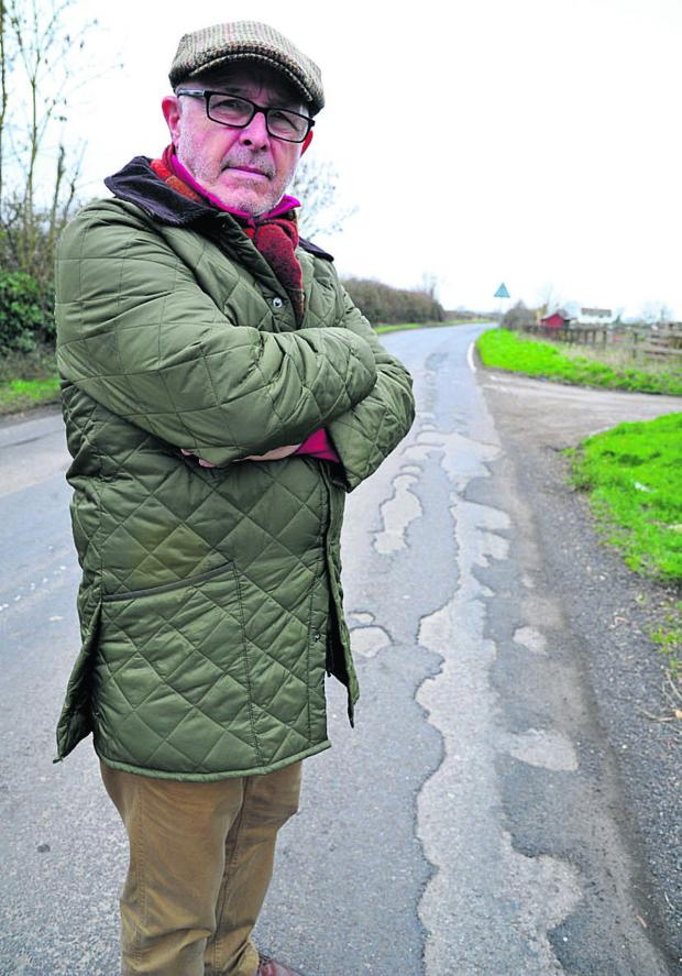 This Is Wiltshire: Resident Mike Eldridge is unhappy about work to fill in potholes