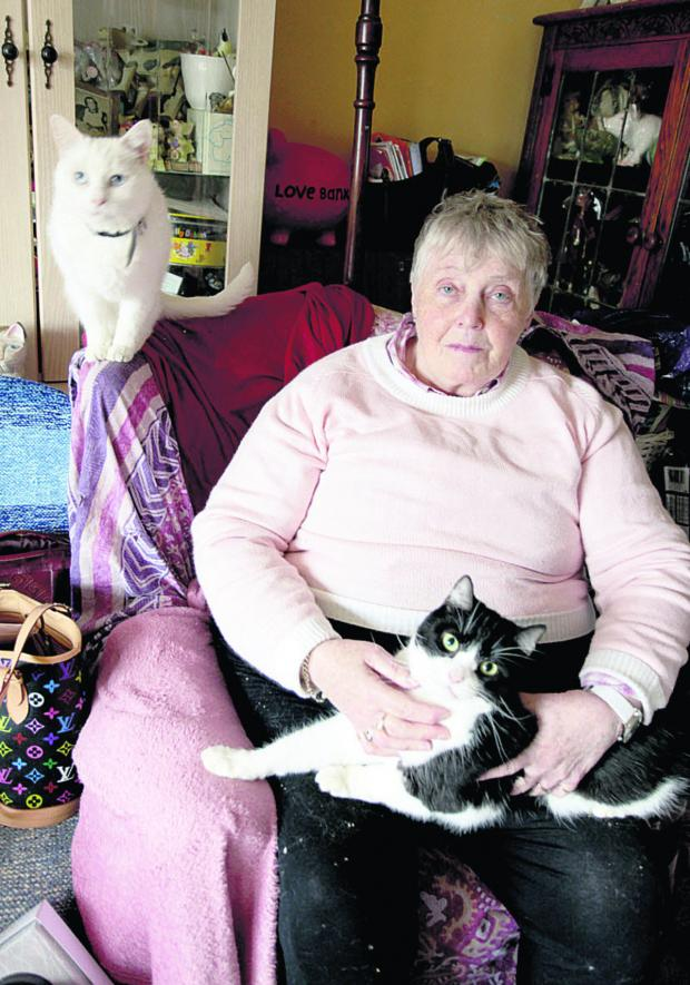 This Is Wiltshire: Mary Cunningham Simpson with two of her cats