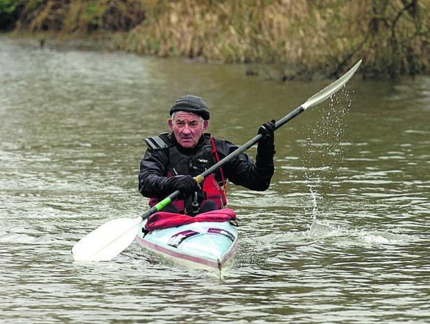 This Is Wiltshire: Bob Norbury in training for next month's Devizes to Westminter