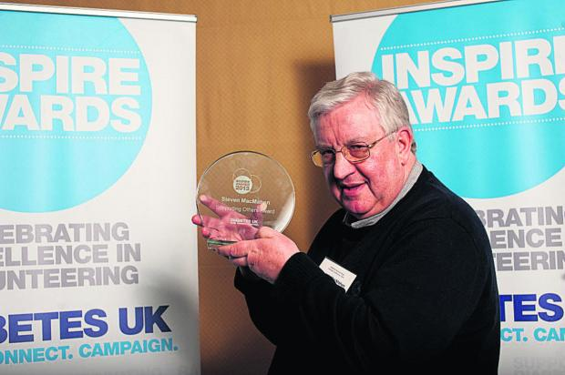 This Is Wiltshire: Stephen MacMahon with his award