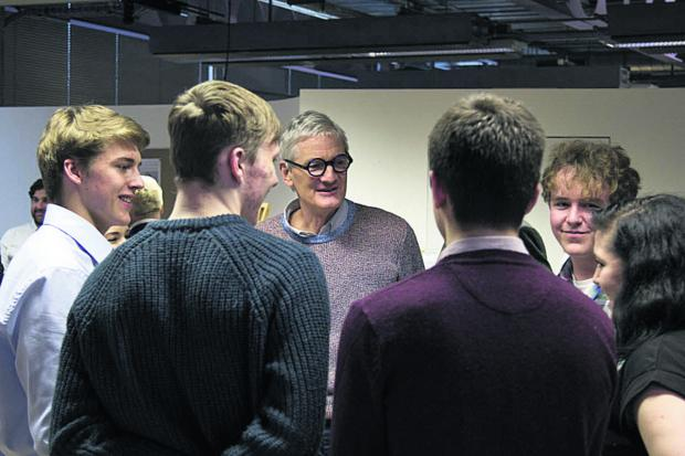 This Is Wiltshire: Sir James Dyson meets Malmesbury School students recently
