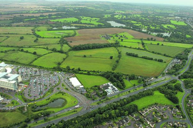 This Is Wiltshire: The land at Coate that will be developed for housing