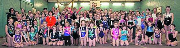 This Is Wiltshire: West Wilts Esprit gymnasts at their Floor and Vault competition