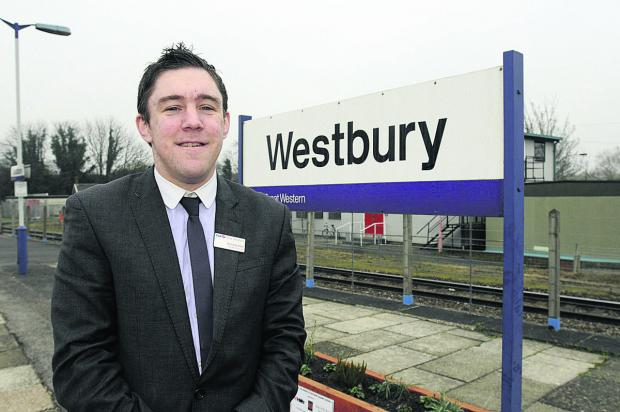 This Is Wiltshire: Westbury Station manager Nicholas Reid was a Rail Business Awards winner