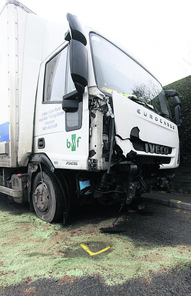 This Is Wiltshire: The damaged lorry