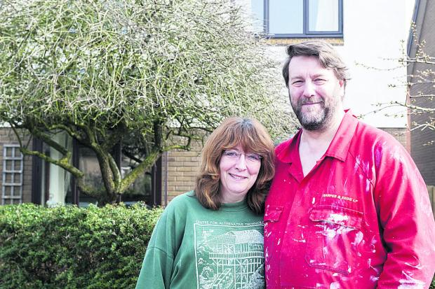 This Is Wiltshire: Angela Morrison and Robert Morrison outside their house in Coxs Road, Shrivenham