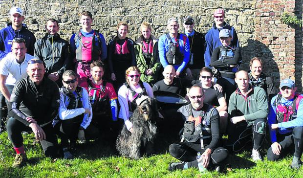 This Is Wiltshire: Devizes Canoe Club entrants in this year's Devizes to Westminster