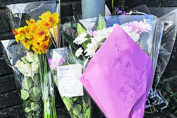 This Is Wiltshire: Flowers at the scene of Melissa Castle's death