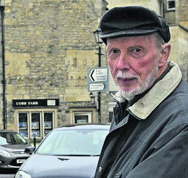 This Is Wiltshire: Traffic campaigner Godfrey Marks oppose the Historic Core Zone in Bradford on Avon