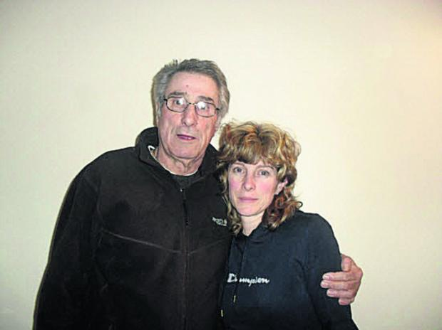 This Is Wiltshire: Rachel Butler with her father Pete Gillett
