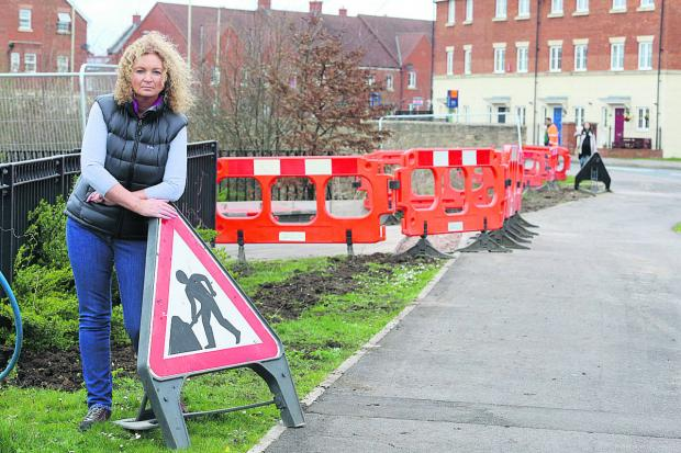 This Is Wiltshire: Marie Percival who is angry with the building of sewage tanks near her home