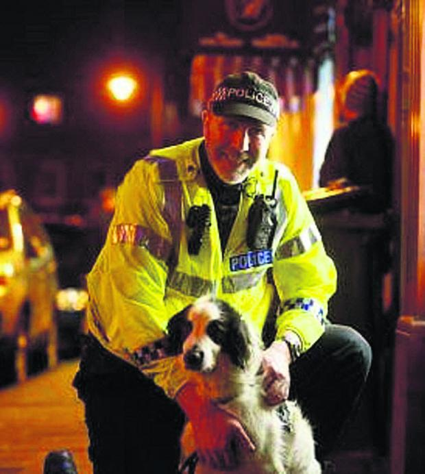 This Is Wiltshire: Handler PC Steve Duffy and five-year-old Patch on duty