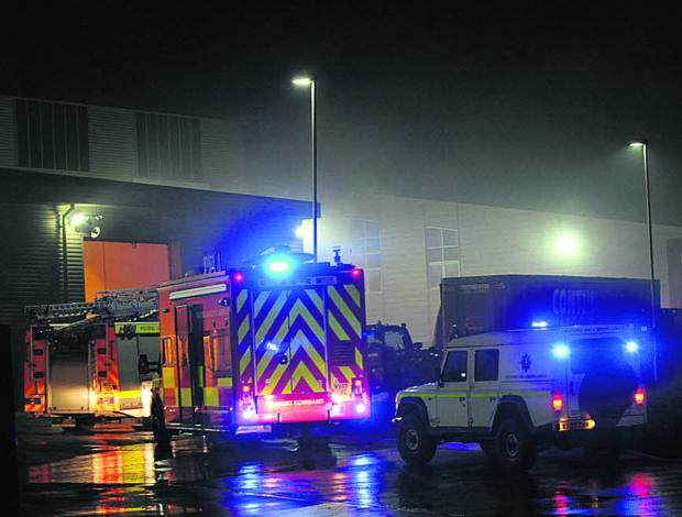 This Is Wiltshire: Firefighters tackle blaze in new Hills recycling plant