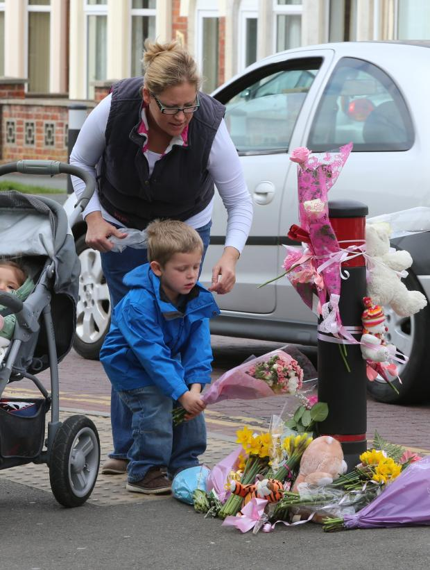This Is Wiltshire: UPDATE: Floral tributes at the scene of fatal bus crash