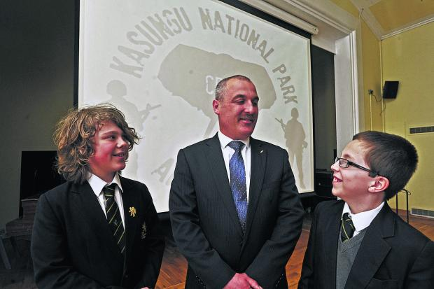 This Is Wiltshire: Ex-marine Robert Pittman with pupils James Tilsley and Luke Lyons